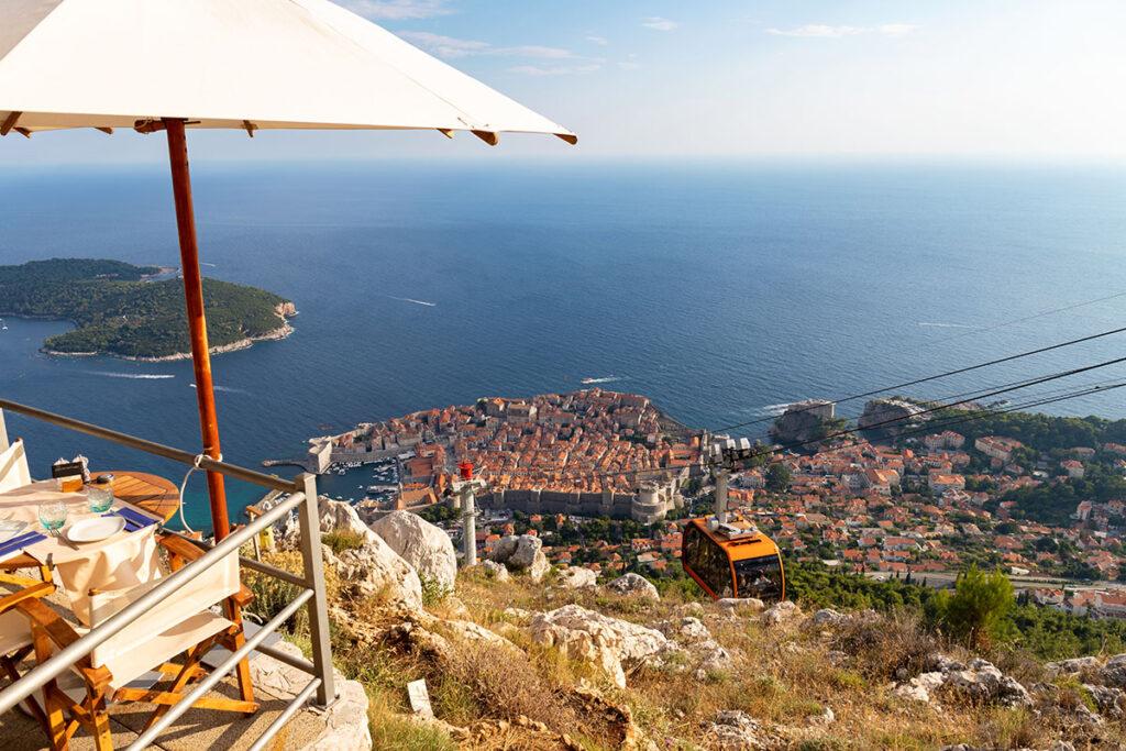 Dubrovnik srd restaurant summer dinner travel croatia dalmatia tour private