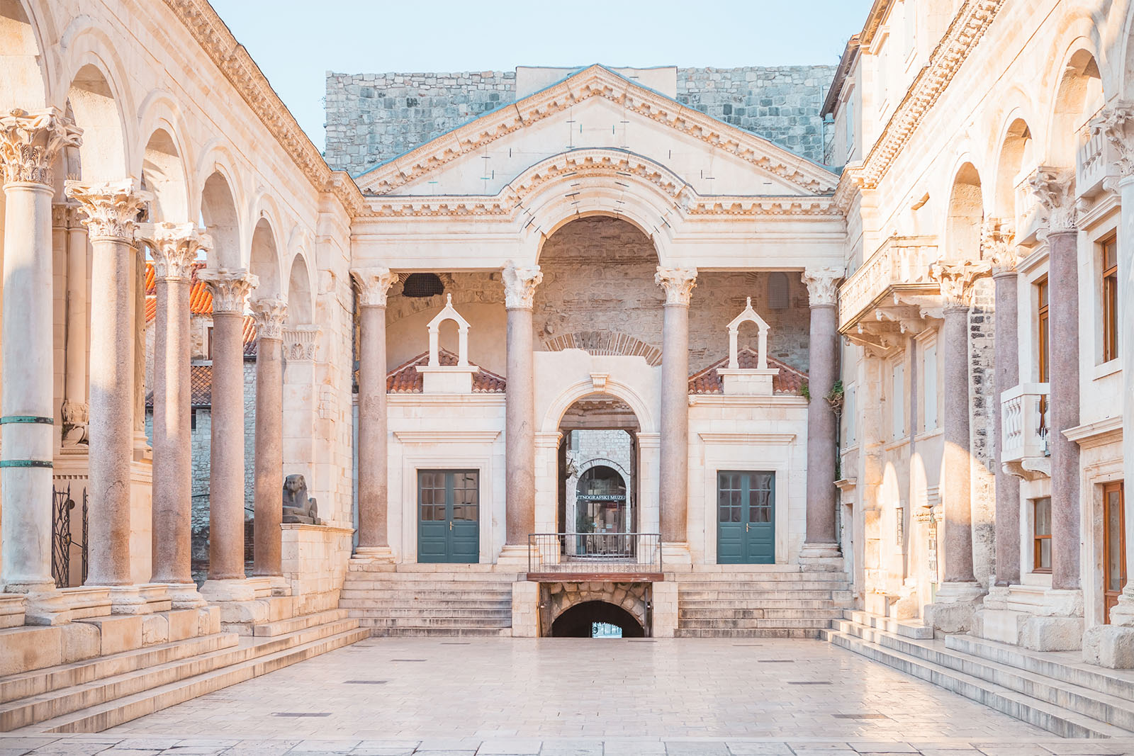 Split peristil downtown summer 2021 vacation private tour croatia